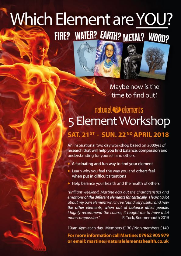 Five Element Workshop Discover Your Element 2018