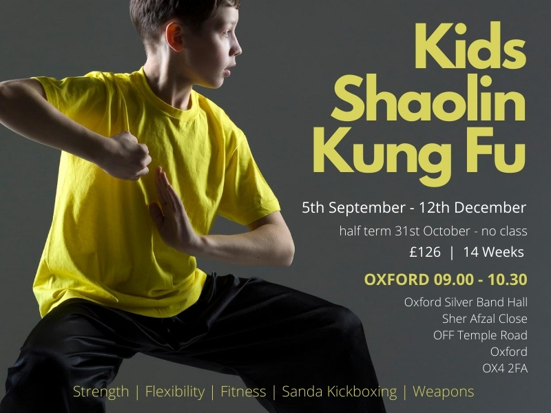 Natural Elements Oxford Kids Kung Fu Autumn Term