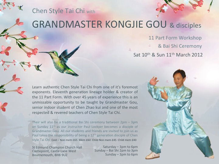 Tai Chi Workshop with Grandmaster Kongjie Go Poster